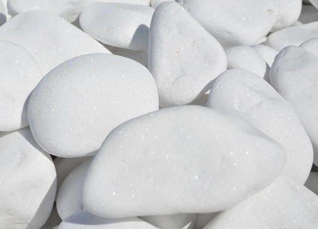 GRECKI ŚNIEŻNOBIAŁY Otoczak Grys Kamień Biały Thassos 1-2, 2-4, 4-8 cm