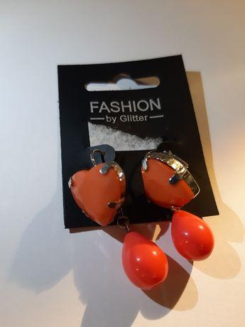 Kolczyki serduszka Fashion by Glitter