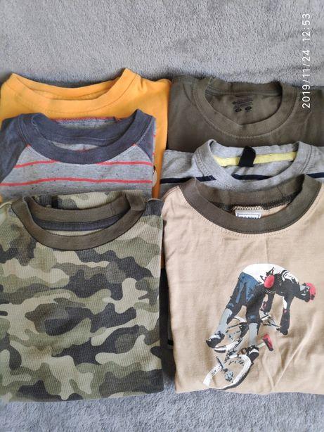 Zestaw 6 koszulek dla chłopca. Old Navy, Columbia, GapKids. Na 6-7lat