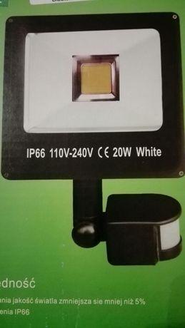 Halogen naświetlacz LED 20W z czujnikiem ruchu