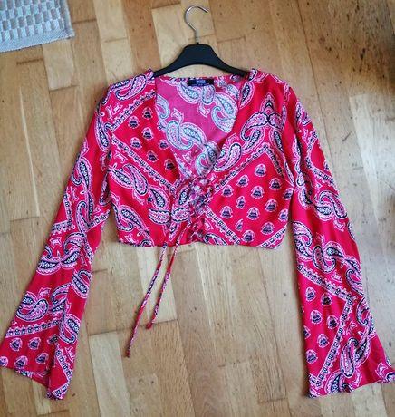 Camisa crop bandana - Bershka - nova