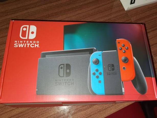 Nintendo Switch v2 (30/04/21) + 4 jogos + cartão de 128 GB+ bolsa