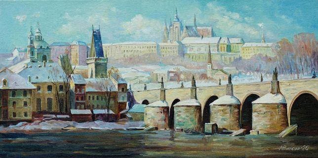 """Картина маслом """" Прага"""""""