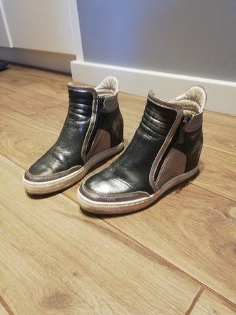 Buty sneakersy jak nowe skórzane Wolski rozm 36