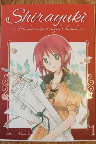 Shirayuki, Śnieżka o czerwonych włosach   cz.1   mangi