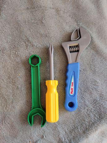 Детские игрушечные инструменты отвёртка гаечный разводной ключ
