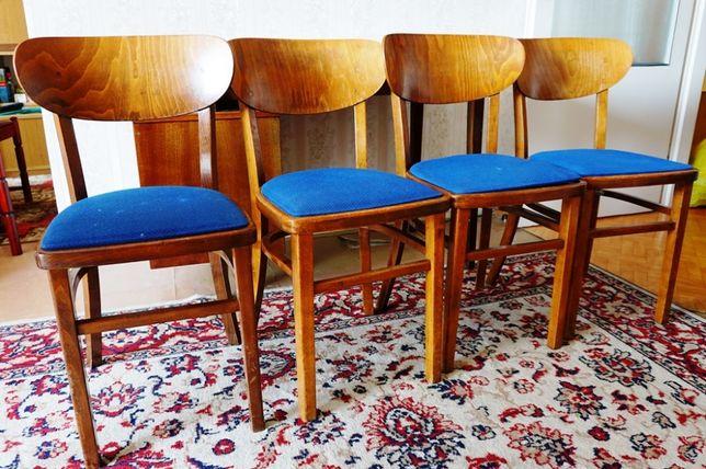 Krzesła drewniane PRL