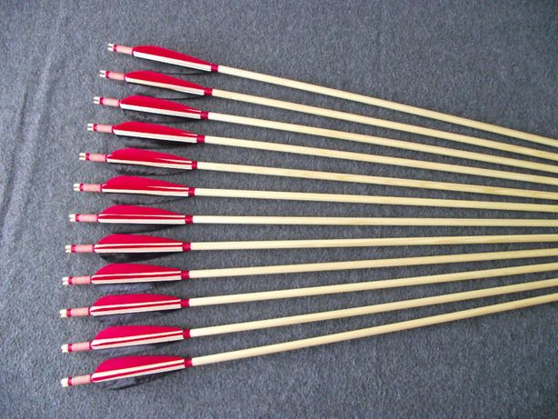 40-45 świerk nr 651 Komplet strzał do łuku strzały strzała drewniana