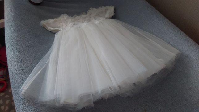 Śliczny zestaw Chrzest sukienka opaska ecru 68 Sofija Mayoral gratis