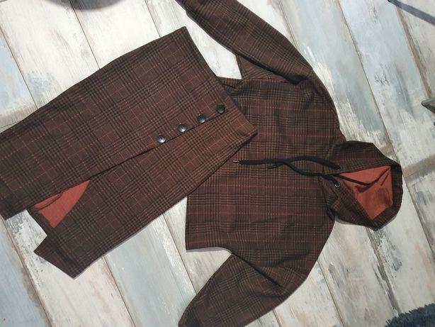 Komplet krata Stradivarius M/L bluza + spódnica