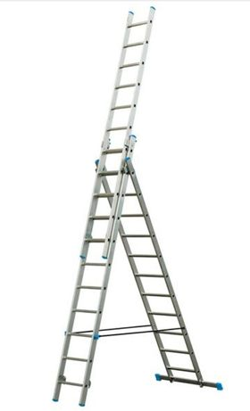 Escada Alumínio 3x11 degraus NOVO