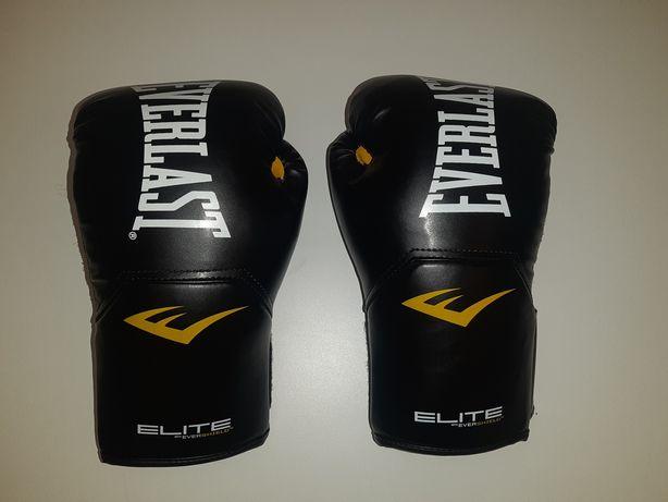 Rękawice Everlast Elite 2 14 oraz Ochraniacze Piszczeli Masters M