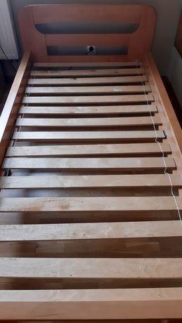 Łóżko drewniane Z MATERACEM do negocjacji