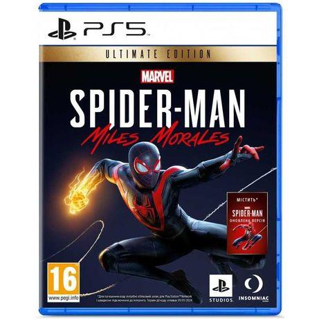 Диск PS5 Marvel Spider-Man Miles Morales Ultimate Edition Официальный