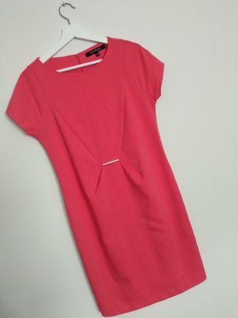 Sukienka Różowa Top Secret Elegancka Prosta 38