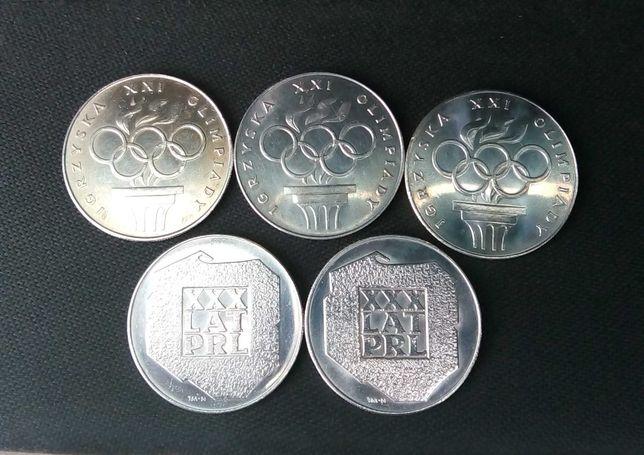 Moneta srebro PRL mapka