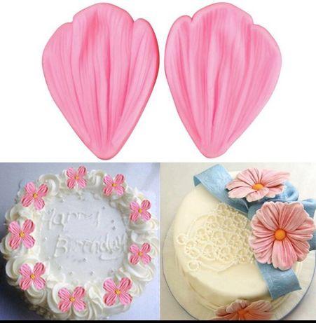 3 D прикраси на торт декор квіти цветы