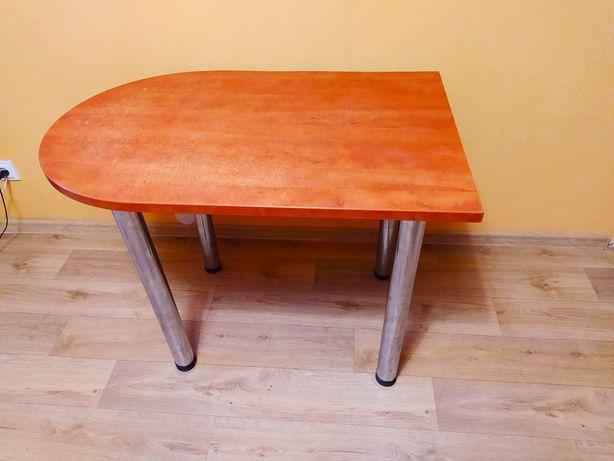 Приставной добротный большой стол с железными ножками,1 м*0.67Доставка