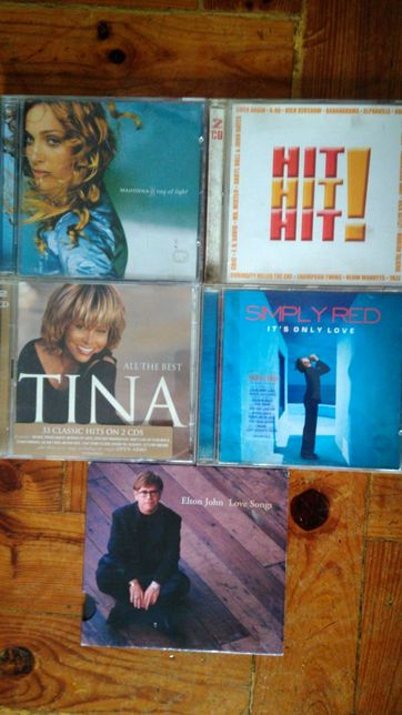 5 CDs música estrangeira