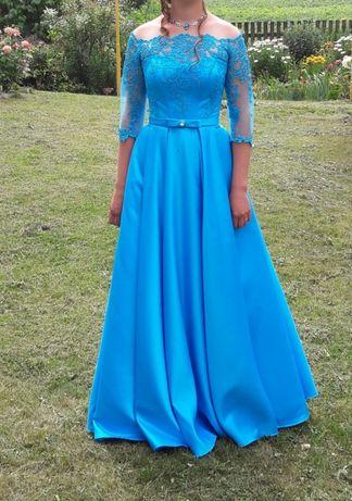 Вечернее и выпускное платье бирюзового цвета