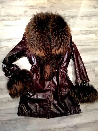Кожаный плащ, куртка, пальто
