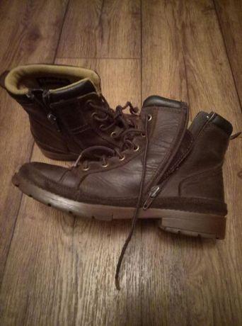 """Ботинки кожанные """"САТ"""" на мальчика 24см."""