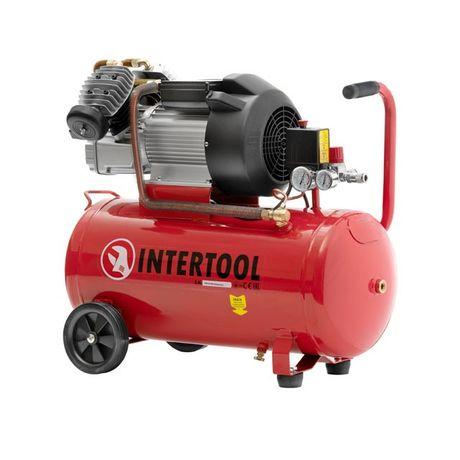 Компрессор 50 л, 3 кВт, 220 В, 10 атм, 420 л/мин INTERTOOL PT-0007