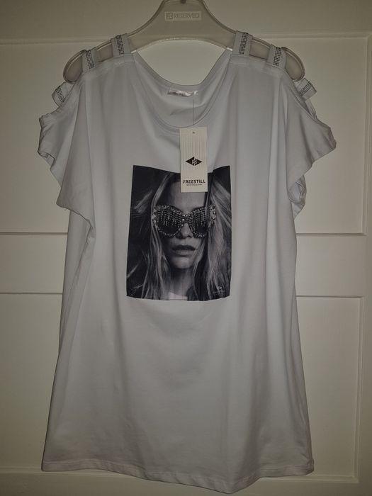Bluzka koszulka biała 44 twarz Nowa Krajenka - image 1