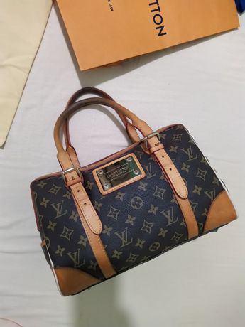 Сумка мини саквояж кожа lv Louis Vuitton оригинал BE0131 номерная
