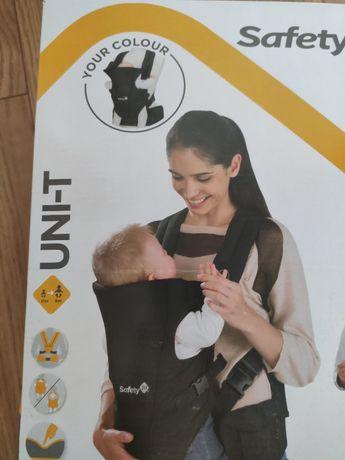 Nosidełko Safety 1st Uni-T Full Black dla niemowlaka do 9m NOWE