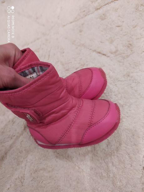Buciki kozaczki różowe Zara 19