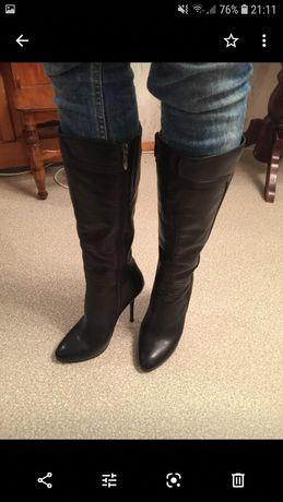 Сапоги женские 37 размер каблук