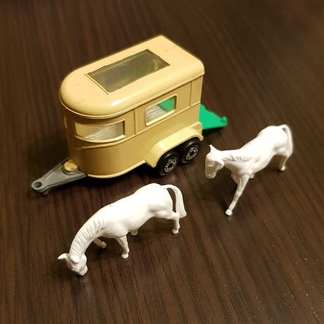 Matchbox England pony trailer przyczepa do przewozu koni.