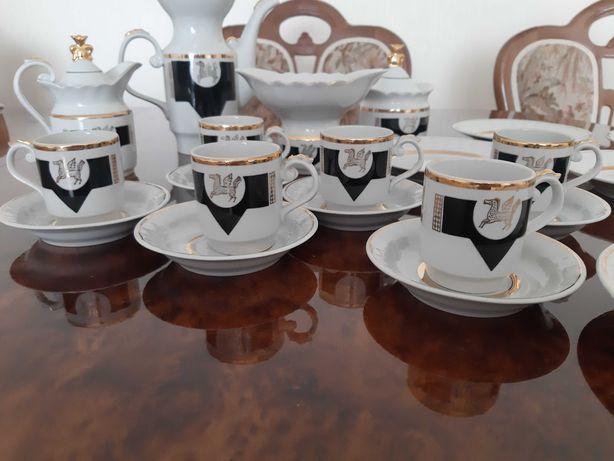 Набор посуды кофейный фарфоровый СССР с позолотой