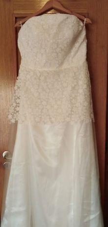 Novo Vestido Noiva/cerimonia 44 simples e elegante