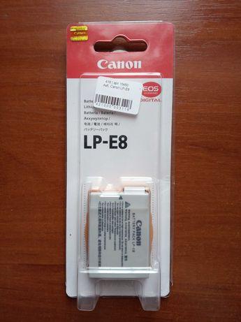 Новый аккумулятор Canon LP-E8, для Canon EOS 700D, 650D, 600D и 550D
