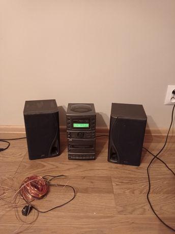 Mini wieża JVC- radio, płyty CD, kasety magnetofonowe