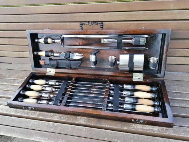 Подарочный набор шампуров для шашлыка и барбекю ручной работы Форест 6