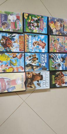 DVDs de filmes e animação