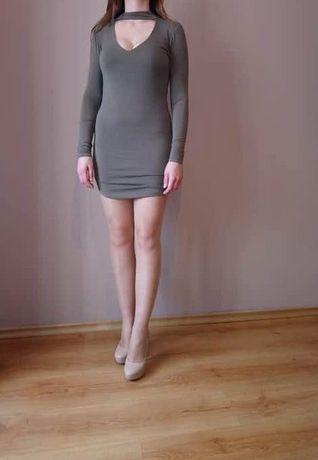 sukienka choker khaki