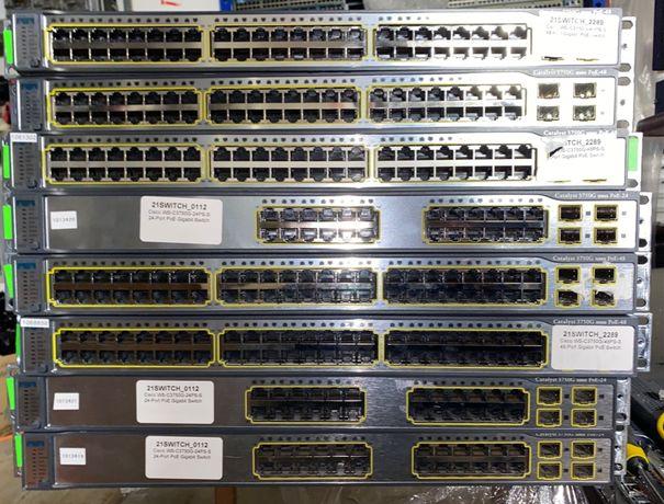 Комутатор Cisco WS-C3750G-24PS-S & Cisco WS-C3750G-48PS-S