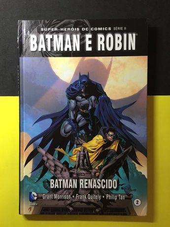 Super-Heróis DC Comics. Barman e Robin - Batman Renascido