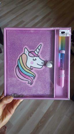 notes, pamietnik unicorne jednorozec nowy sliczny zestaw na prezent