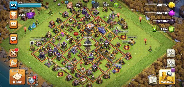 акаунт Clash of clans tx11
