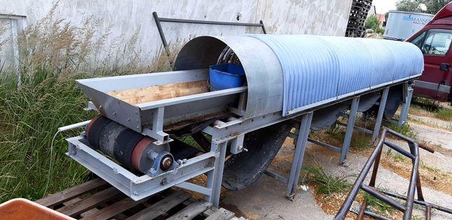 Przenośnik podajnik taśmowy taśmociąg 6,5 m