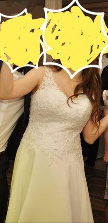 Suknia ślubna w stanie idealnym ciążowa.