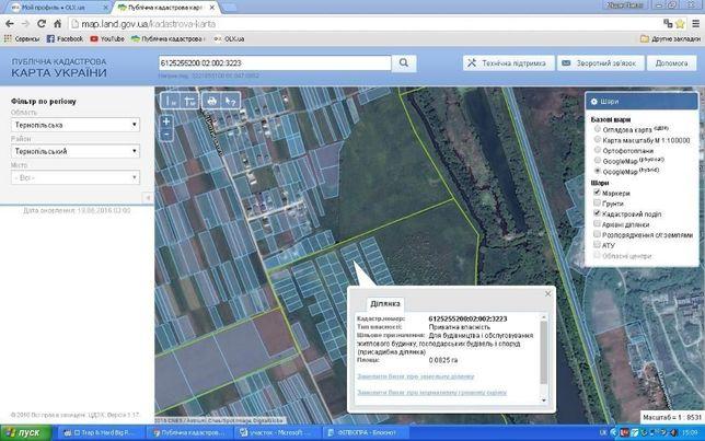 Продам земельну ділянку під забудову площею - 0.08 га