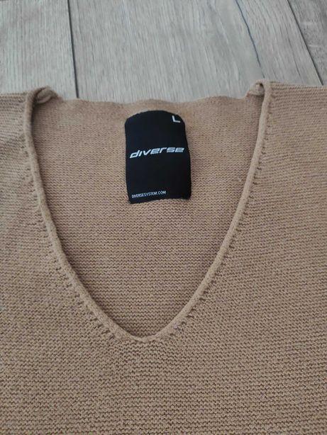 Brązowy, sweter, Diverse, L, 40, jak nowy