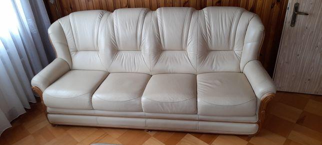 Komplet wypoczynkowy, kanapa oraz fotel