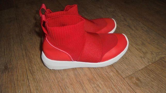 H&M красные высокие кроссовки коровки-носки как balenciaga